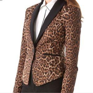BCBGMAXAZRIA leopard jacket